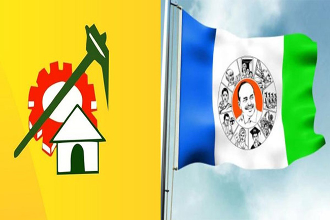 TDP dominating YCP in that district ...!