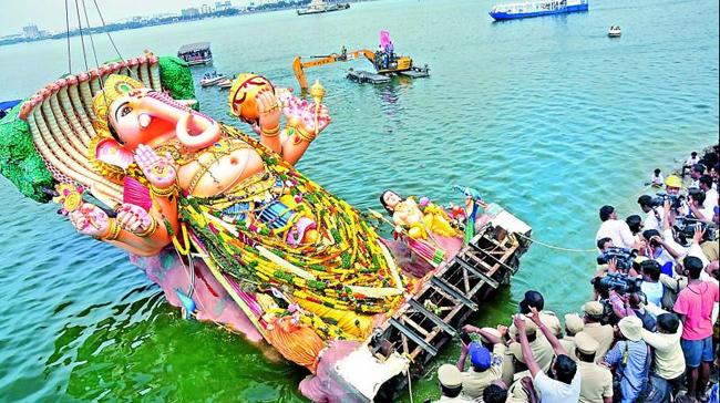 Telangana sarkar about Ganesh nimajjanam