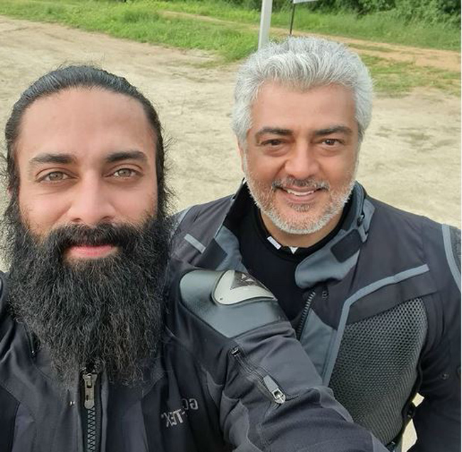 Tollywood racer with racer Ajith