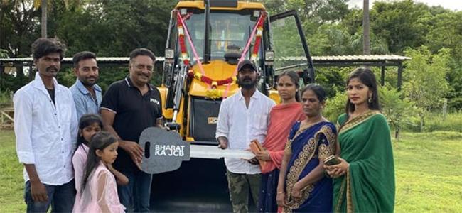 actor prakash raj JCB gift to the family?