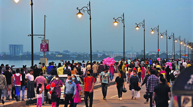 how beautiful the Tank Bund was made for the Sunday